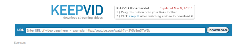KeepVid website