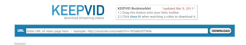 KeepVid website
