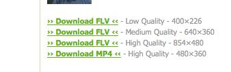 KeepVid downloaded video formats